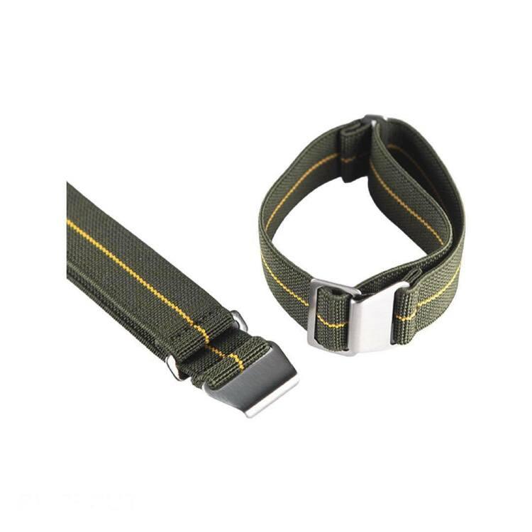 Grönt och gult elastiskt klockarmband 18mm 20mm 22mm