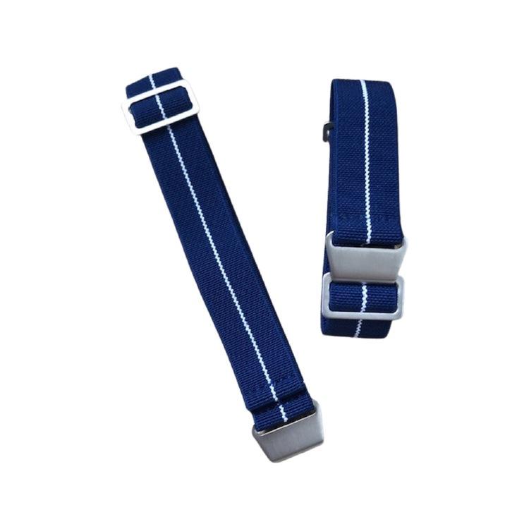 Blått elastiskt klockarmband 18mm 20mm 22mm