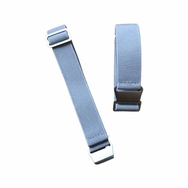 Grått elastiskt klockarmband 18mm 20mm 22mm