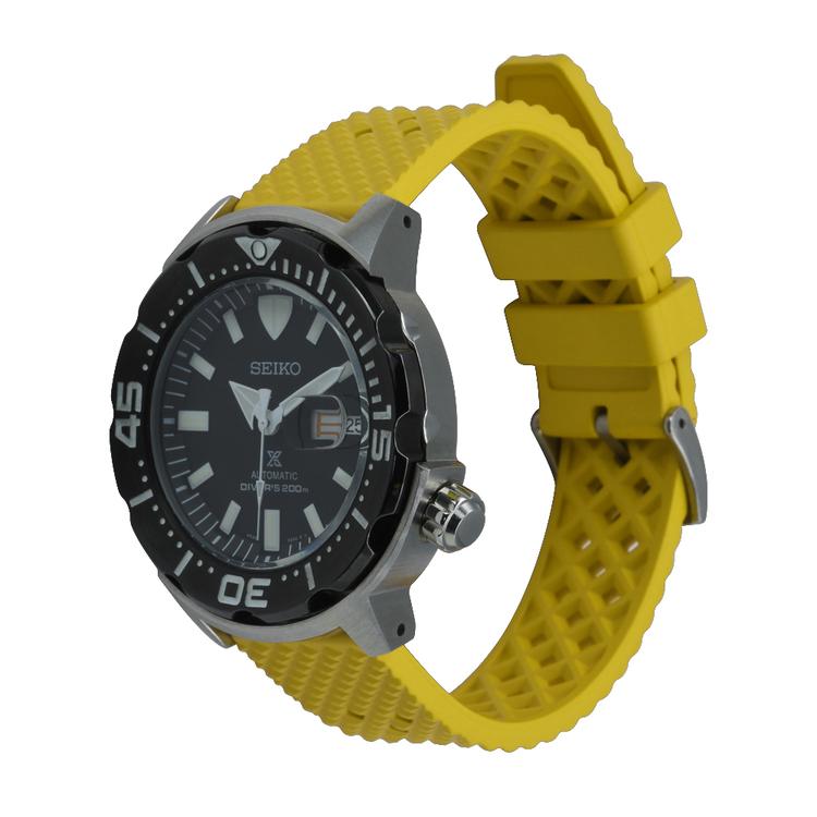 Honeycomb klockarmband av gult FKM gummi 18mm 20mm 22mm 24mm