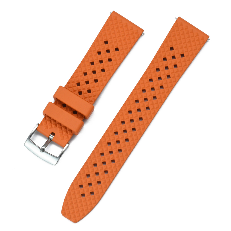 Honeycomb klockarmband av orange FKM gummi 18mm 20mm 22mm 24mm