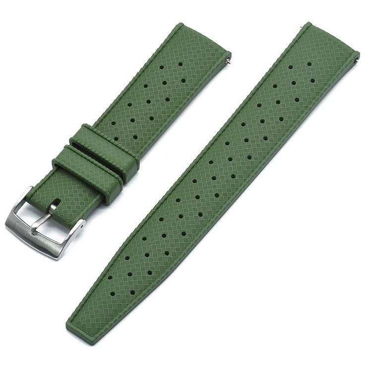 Tropic klockarmband av grönt FKM gummi 20mm 22mm