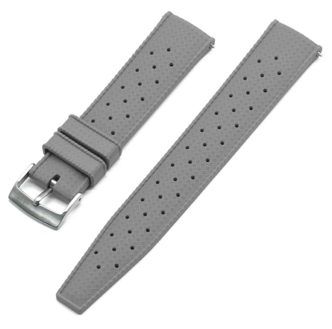 Tropic klockarmband av grått FKM gummi 20mm 22mm
