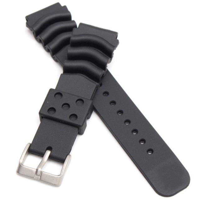 Wave Vent klockarmband av gummi 18mm 20mm 22mm 24mm