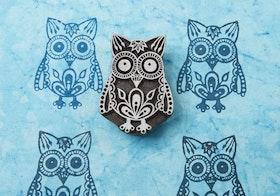 Stämpel Exotic owl