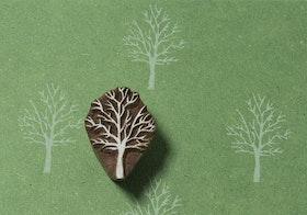 Stämpel Winter tree