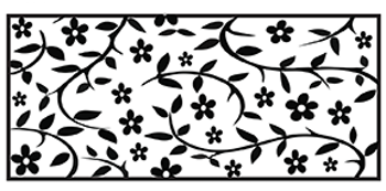 Liten handrulle Small flowers
