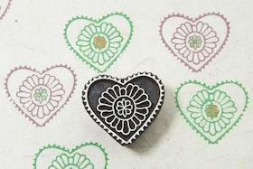 Stämpel Flower in heart
