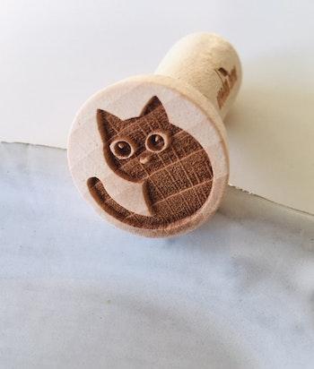Stämpel Katt rund