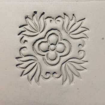 Stämpel Floral tile