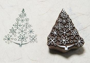 Stämpel Ornament tree