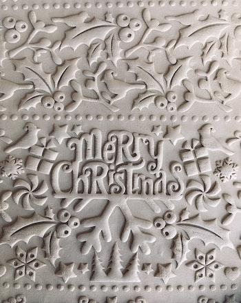 Mönsterkavel Merry Christmas
