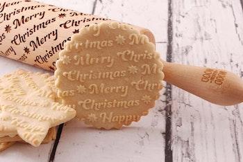 Mönsterkavel Merry Christmas text