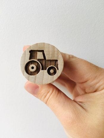 Stämpel Traktor rund