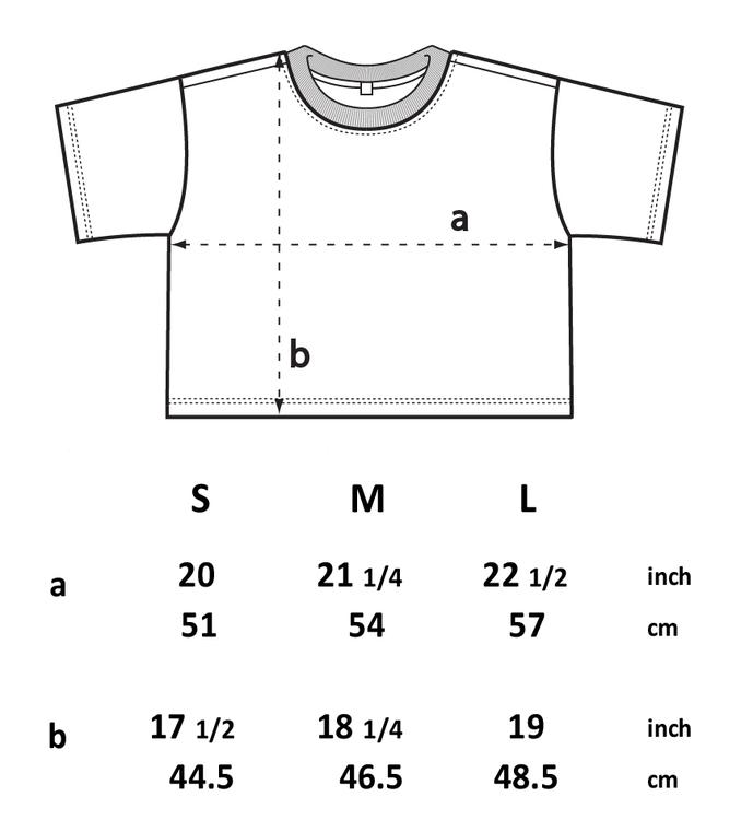 Stentvättad kort t-shirt