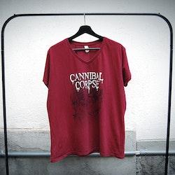 Cannibal corpse t-shirt röd (XL)