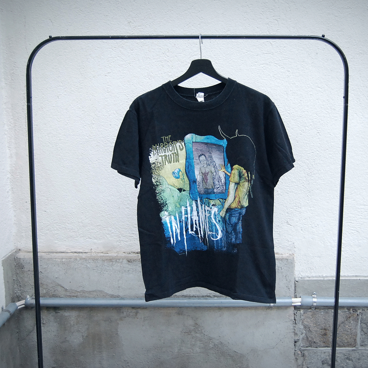 NY! In flames t-shirt (M)