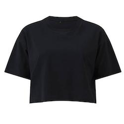 Nattsvart kort t-shirt