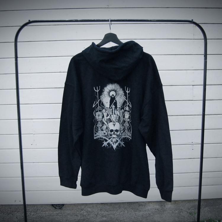 NY! Grá hoodie (XL)