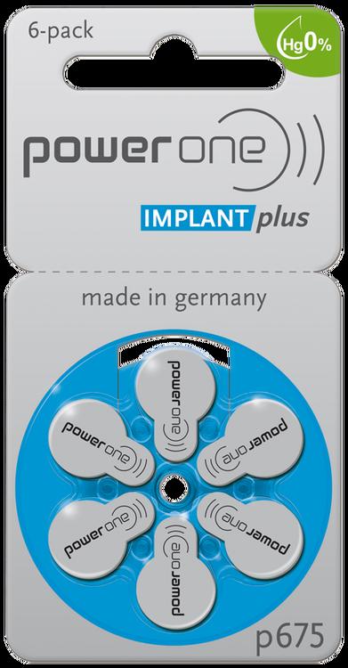 Power one batteri IMPLANT Plus P65 till cochlear implantat