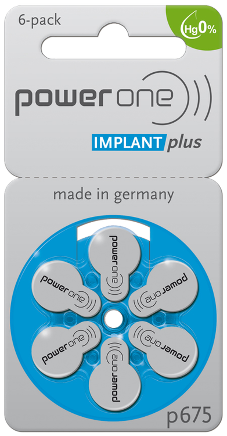Power one batteri IMPLANT Plus P65 till cochlear implantat