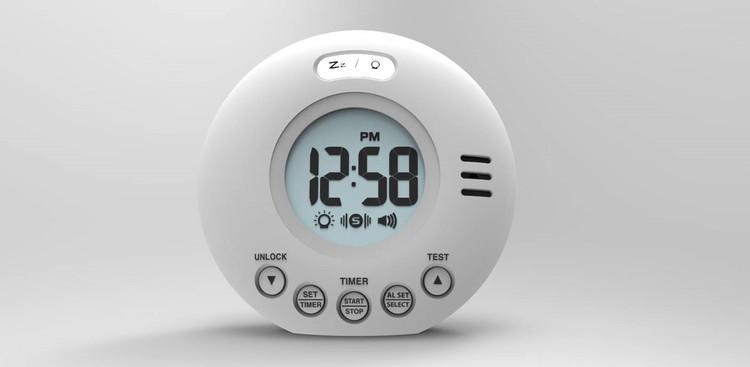 Reseväckarklocka med vibration - Svart eller Vit