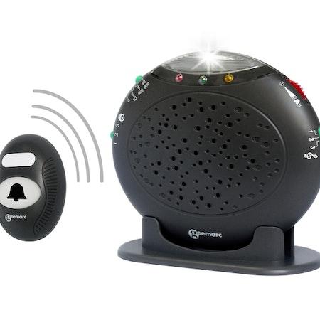 AmpliCALL20 - Trådlös dörrklocka och telefonindikator med extra högt ljud och blinkade ljus