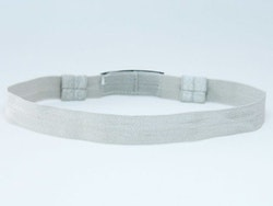 EasyFlex hårband för hörapparat och/eller cochlear - Grå/Silver