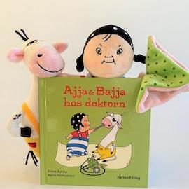 Ajja och Bajja - Valfri bok och båda tygdockorna.