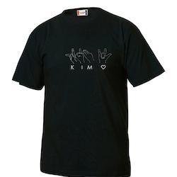 Personlig T-shirt med teckenspråk - Barn