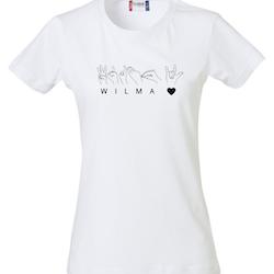 Personlig T-shirt  med teckenspråk - Dam