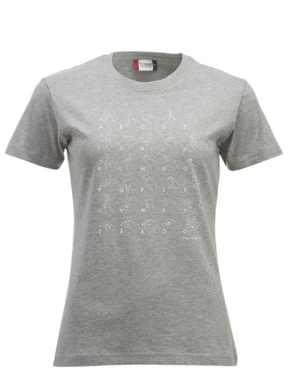 T-shirt - HELA handalfabetet - Dam