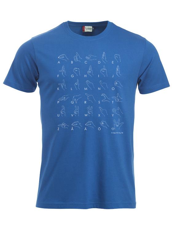 Personlig T-shirt med teckenspråk - Herr