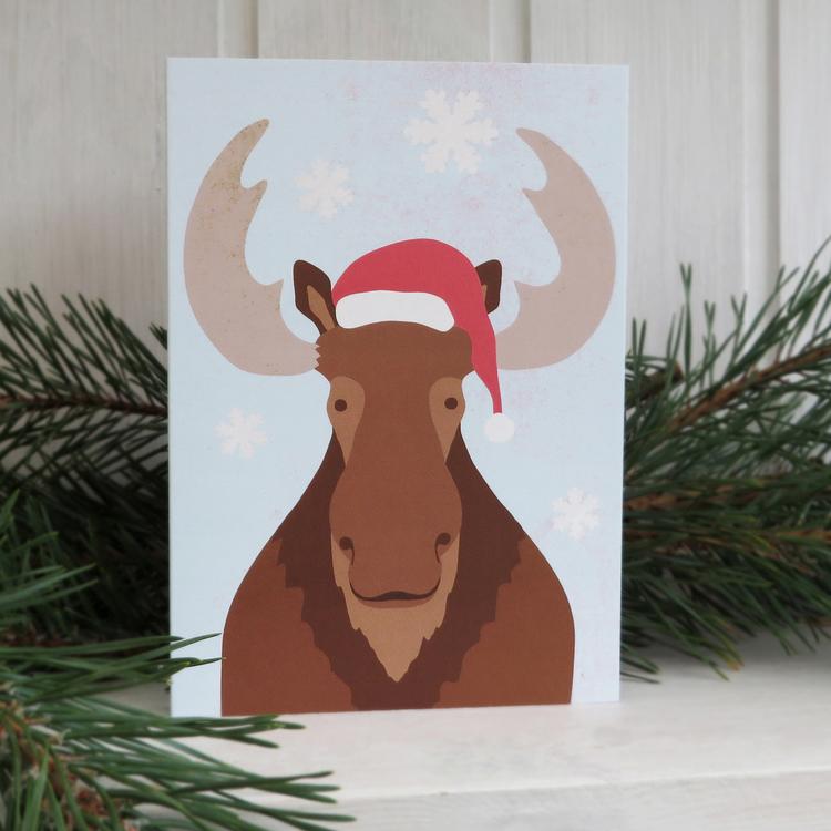 Julkort - X-Moose
