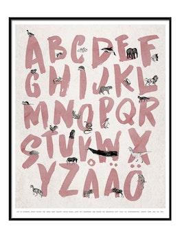 Alfabet Poster - Rosa