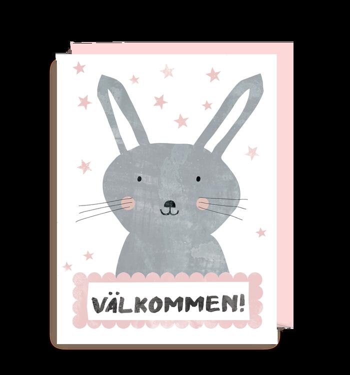 Inbjudningskort - Kanin