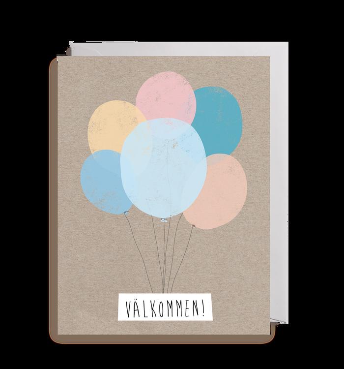 Inbjudningskort - Balloons!