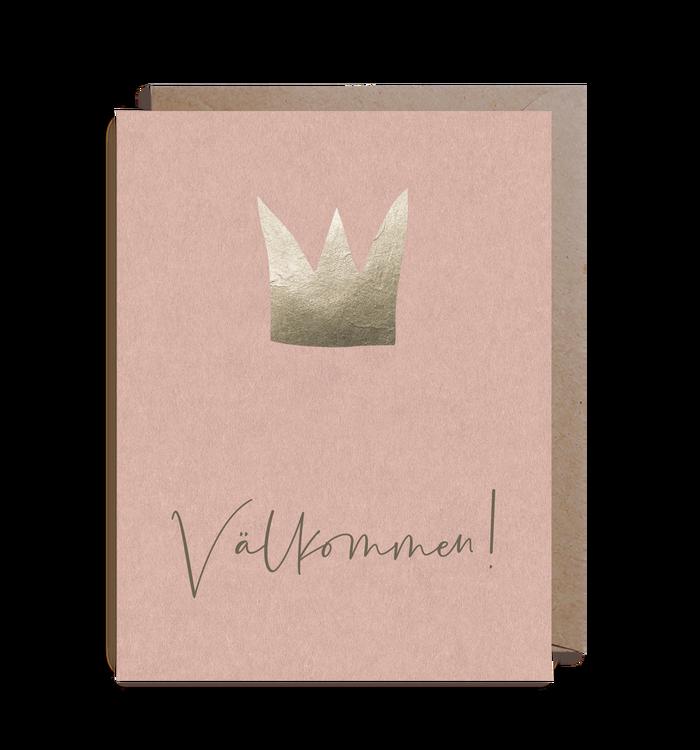 Inbjudningskort - Crown Pink