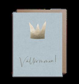 Inbjudningskort  - Crown Blue