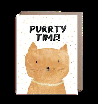 Inbjudningskort - Purrty time!