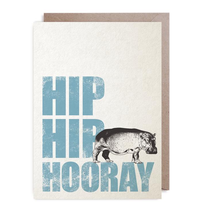 Kort - Rustik Hip, Hip, Hooray