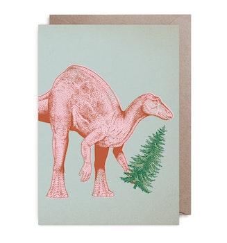 Julkort - Dinosawatree