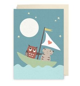 Kort - Owl and Cat