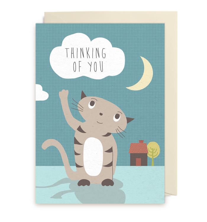 Kort - Thinking Cat