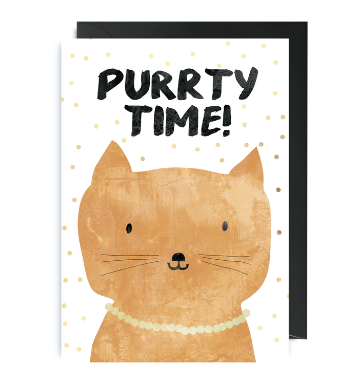 Kort - Party Animals Purrty Time