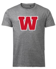 IK Waxholm t-shirt, grå W-logo