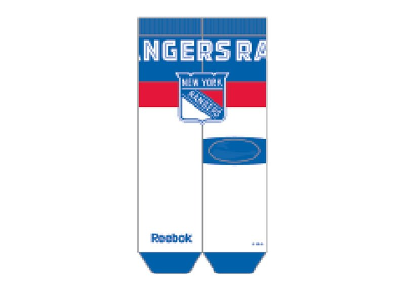 Reebok Team Name Crew Sock, New York Rangers