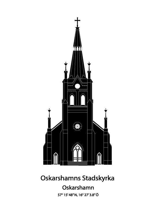 Oskarshamn Stadskyrka Front