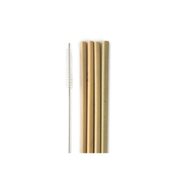 4 pack sugrör i bambu