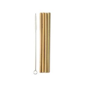 4 pack sugrör i bambu, The Humble Co